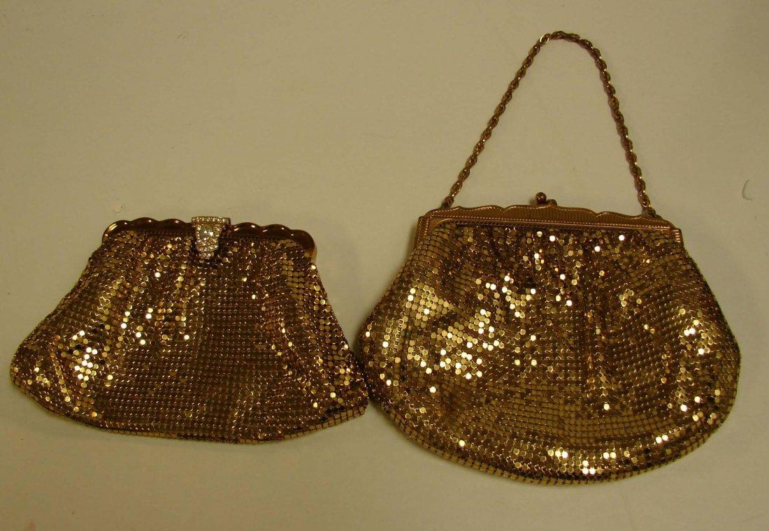 4: 2 Vintage Gold Mesh Whiting & Davis Bags
