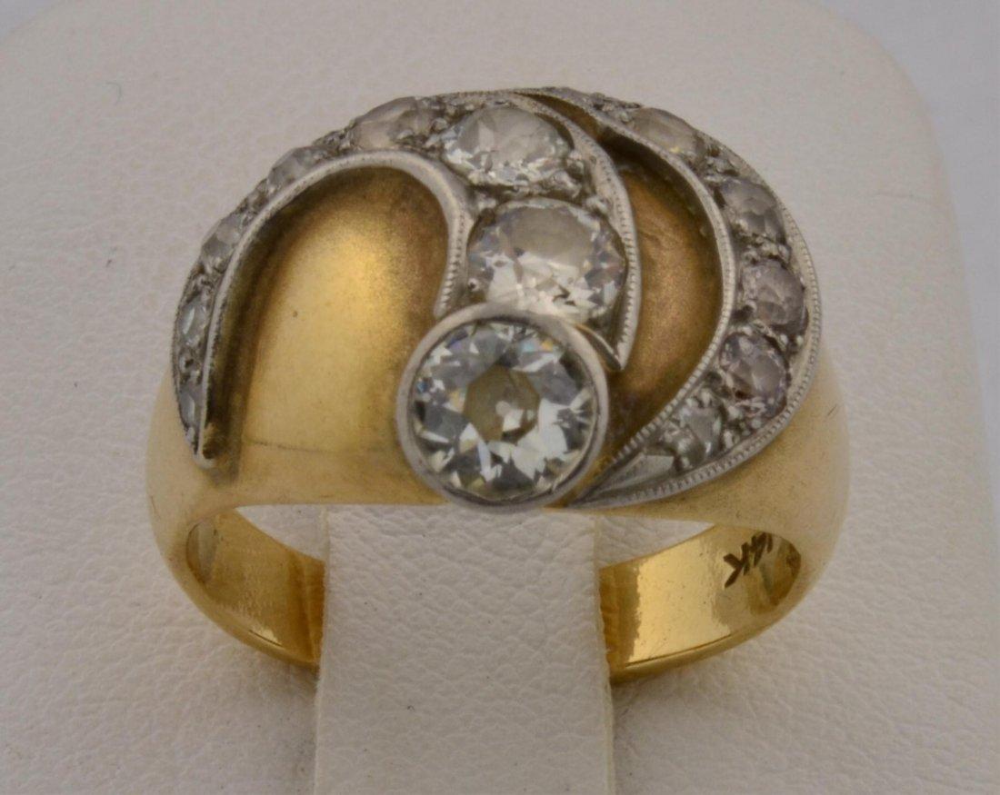 5: 14k yg  Lady's Diamond Fashion Ring