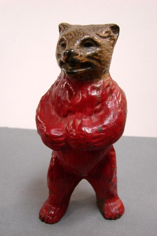 5A: Cast Iron Painted Still Bear Bank