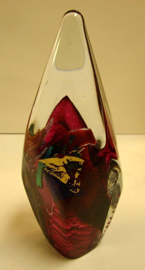 11: Signed Art Glass Paperweight