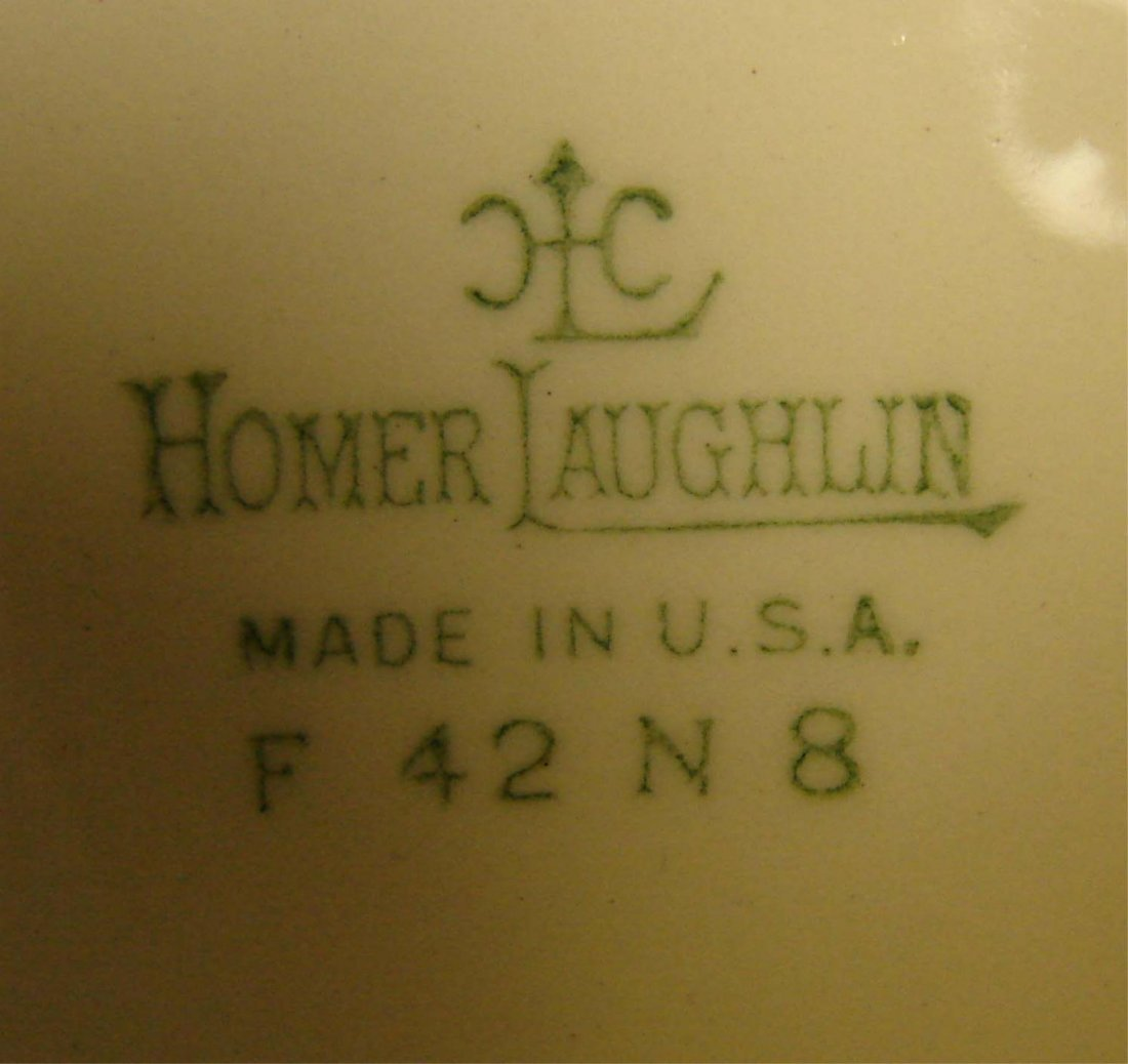 110: Homer Laughlin Virginia Rose China Svc. for 8 - 4