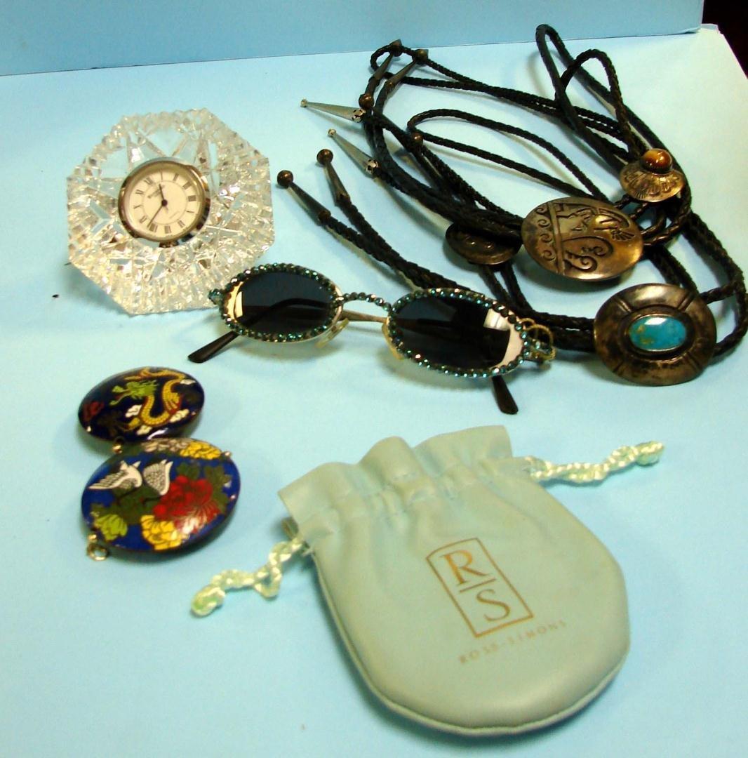 12A: Waterford Crystal Clock, Swarovski sunglasses +++