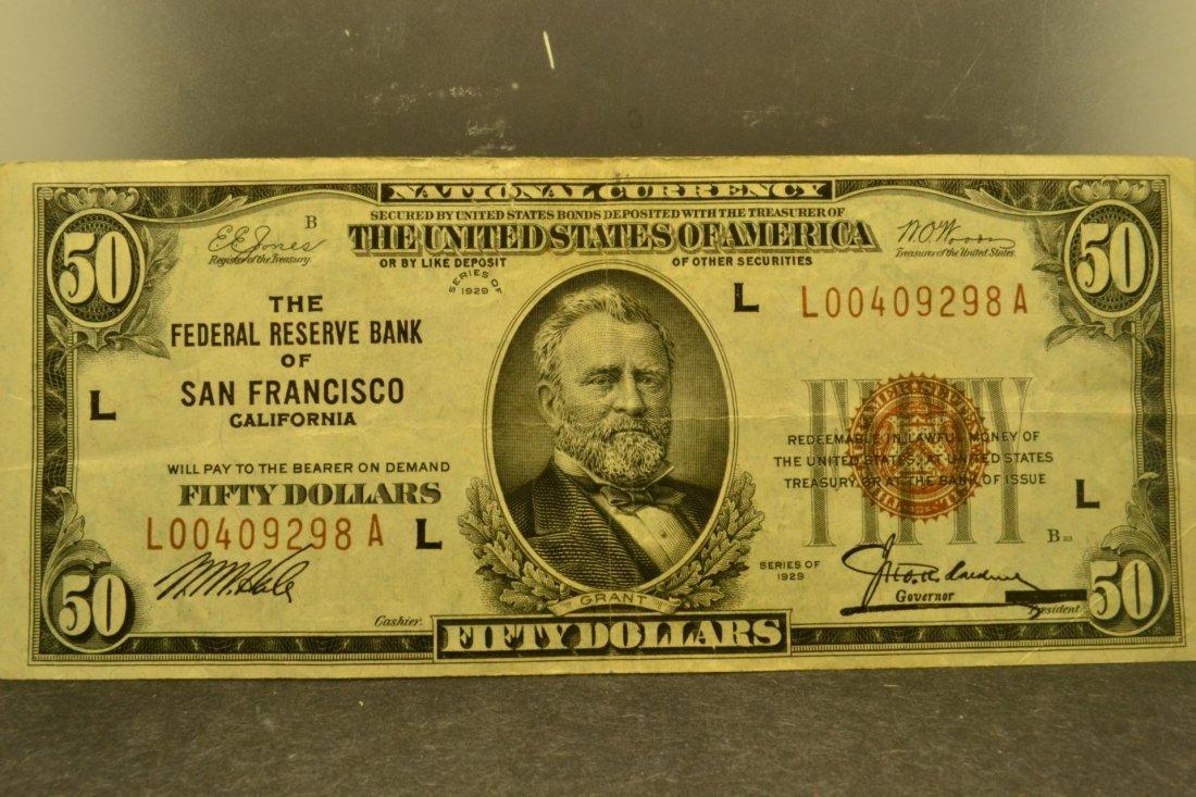 1750: 1929 $50 F R N San Francisco XF