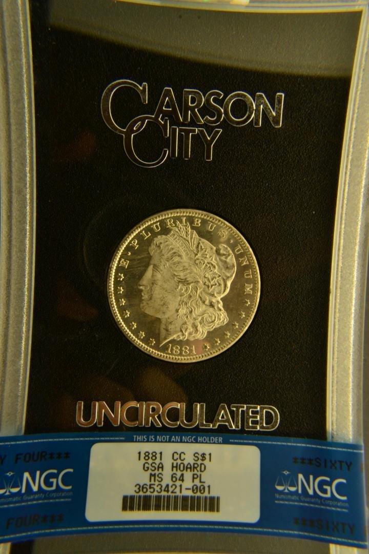 963L: 1881-CC $1 Morgan Silver Dollar GSA NGC MS 64