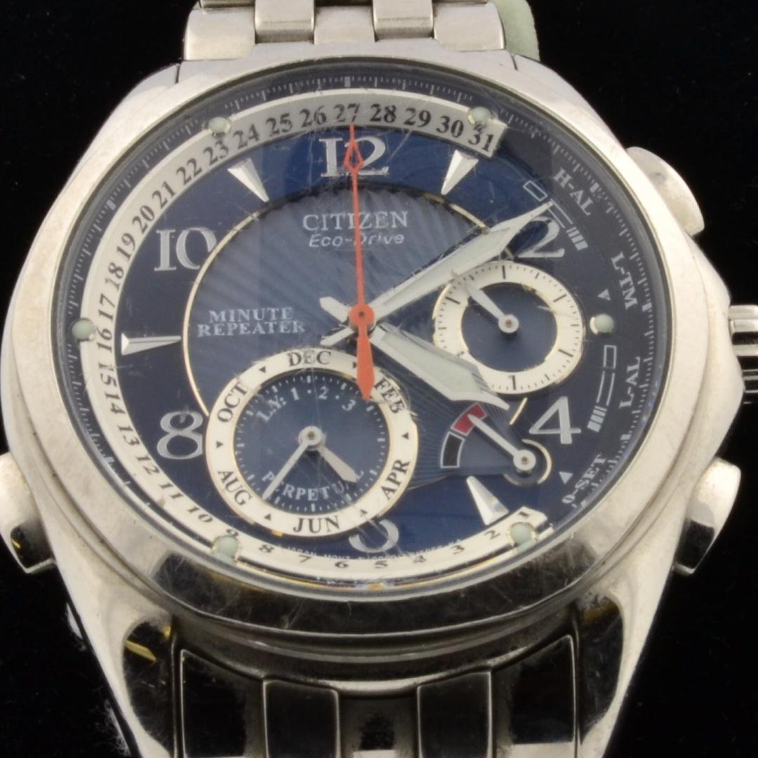 17: Man's Eco Drive  Stainless Citizen Watch