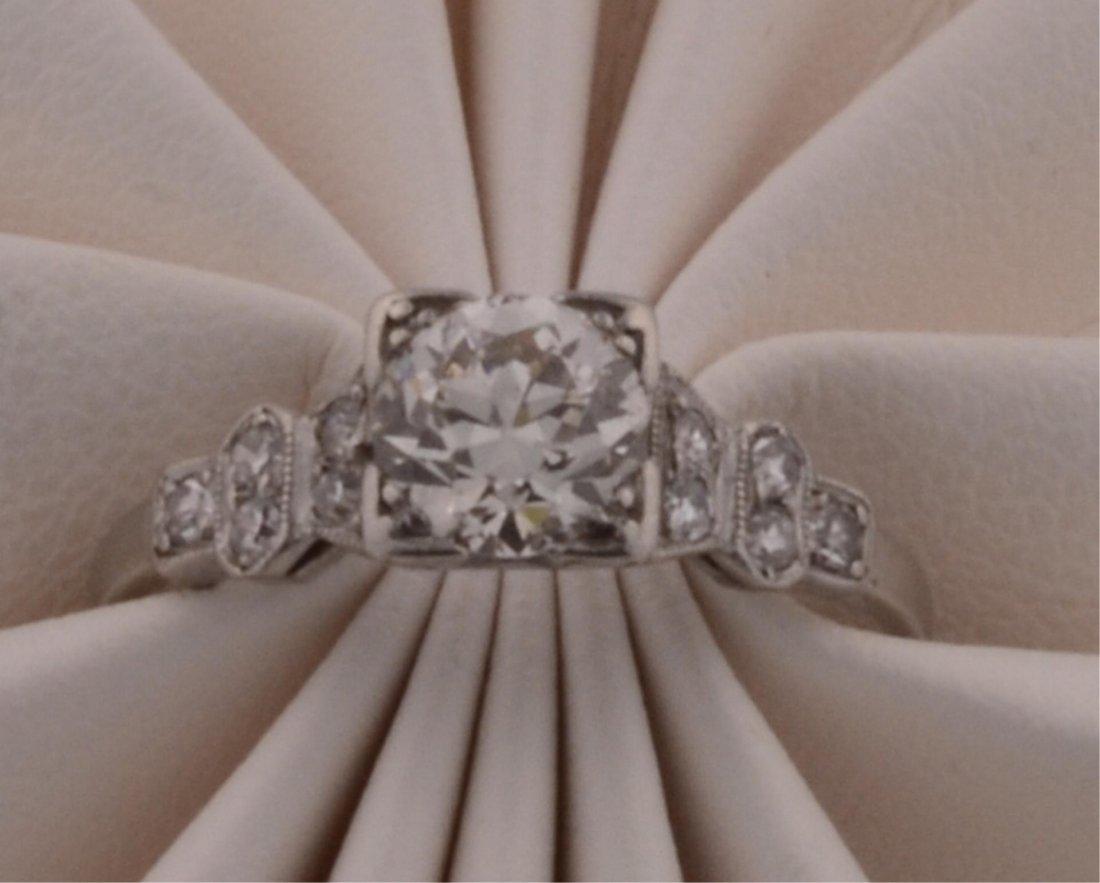 18: Ladies Platinum  .73ct Diamond Ring