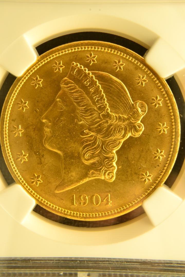 1333: 1904 $20 Liberty NGC MS63 - 2