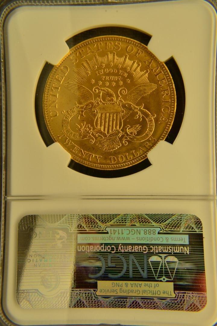 1333: 1904 $20 Liberty NGC MS63 - 3
