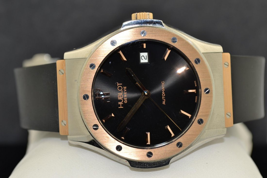 65A: 18k Pink Gold HUBLOT Classic Mans Watch #1915-7 - 2