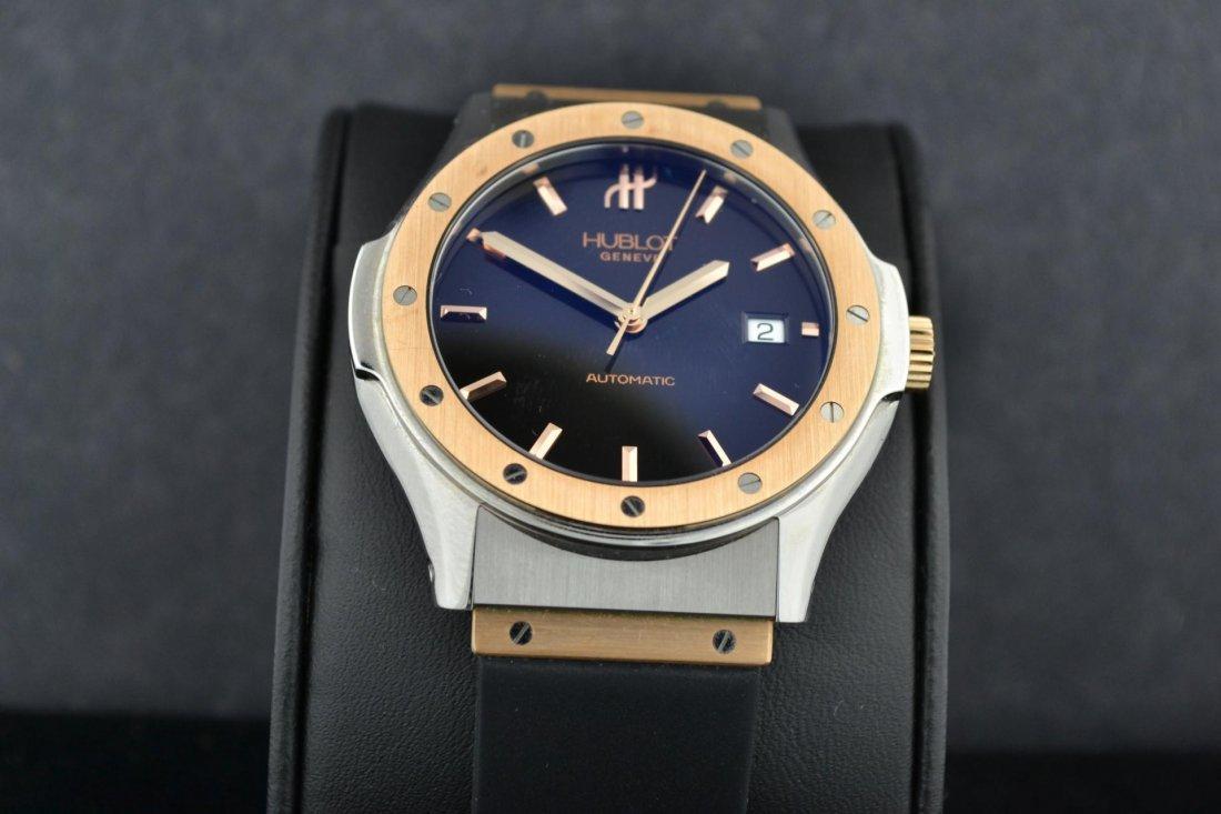 65A: 18k Pink Gold HUBLOT Classic Mans Watch #1915-7 - 3
