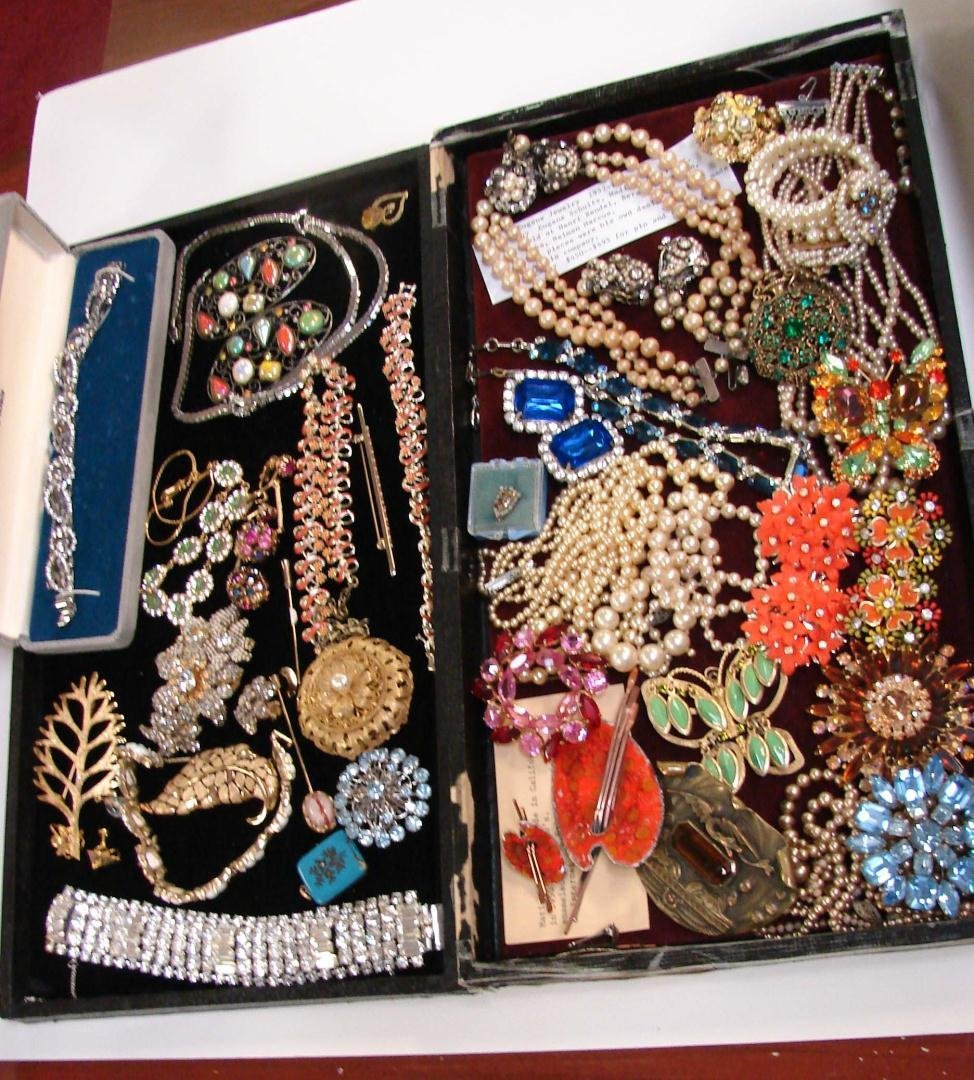 72: Vintage Costume Jewelry, Many Signed Pcs.
