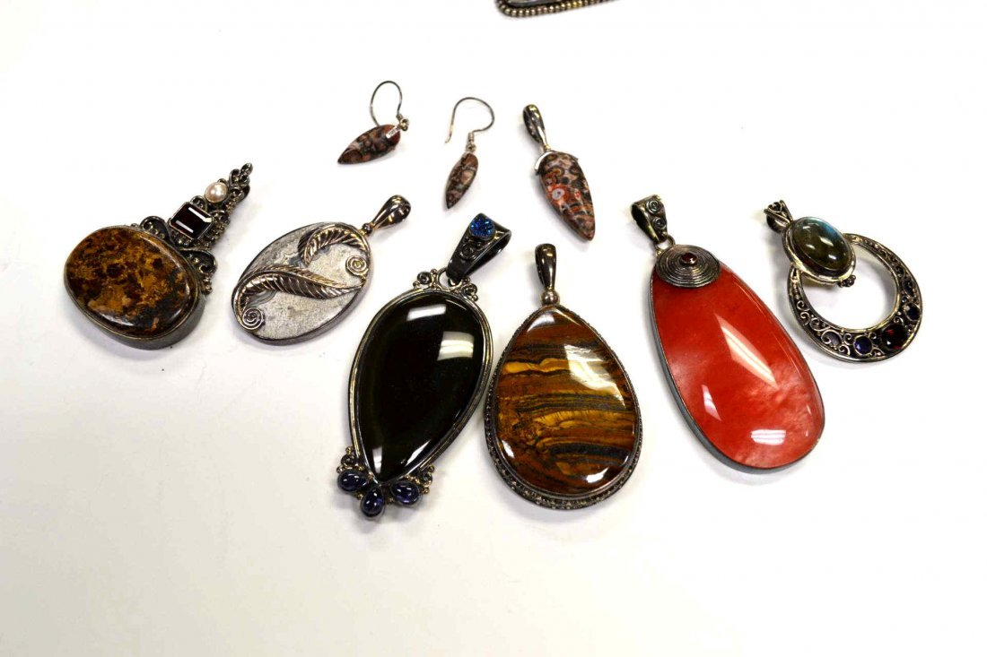 6: Lot of sterling pendants by Marianna Sajen
