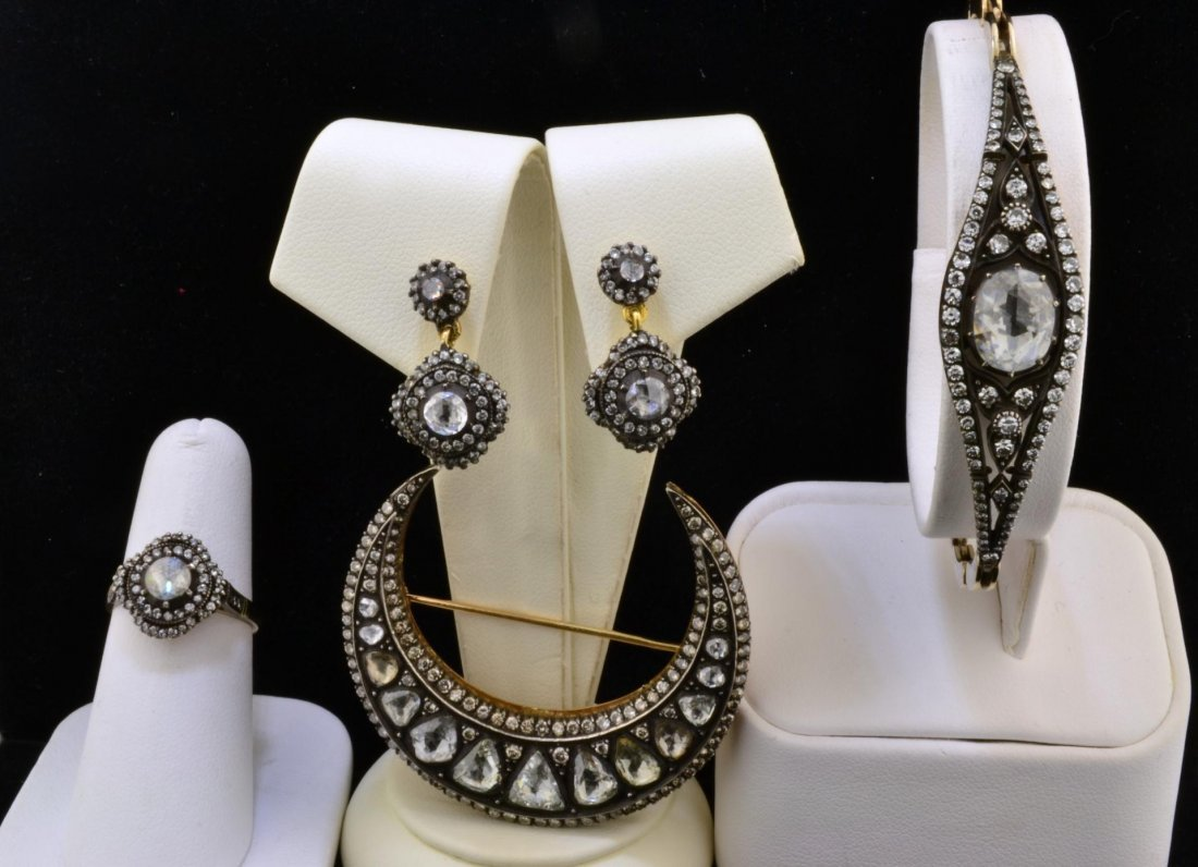 79A: Suite of Vintage Look Diamond Jewelry