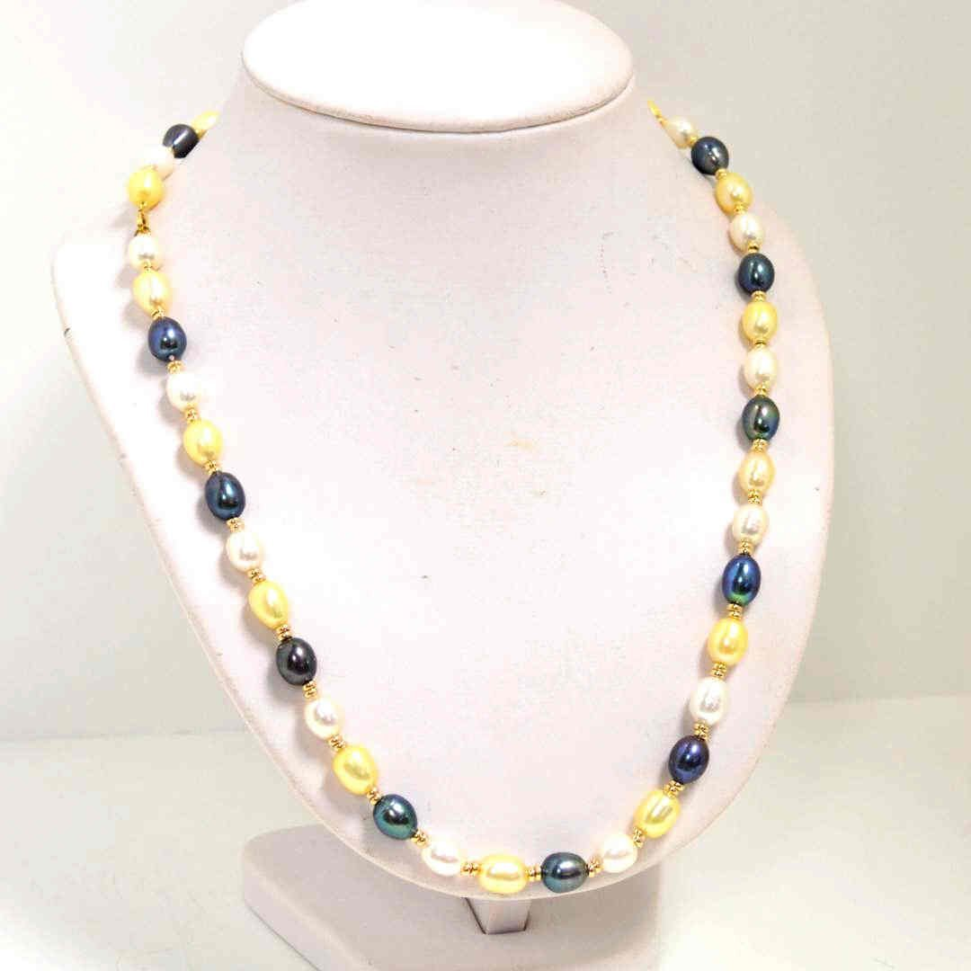 "15: 23"" strand Colored Freshwater Pearls"