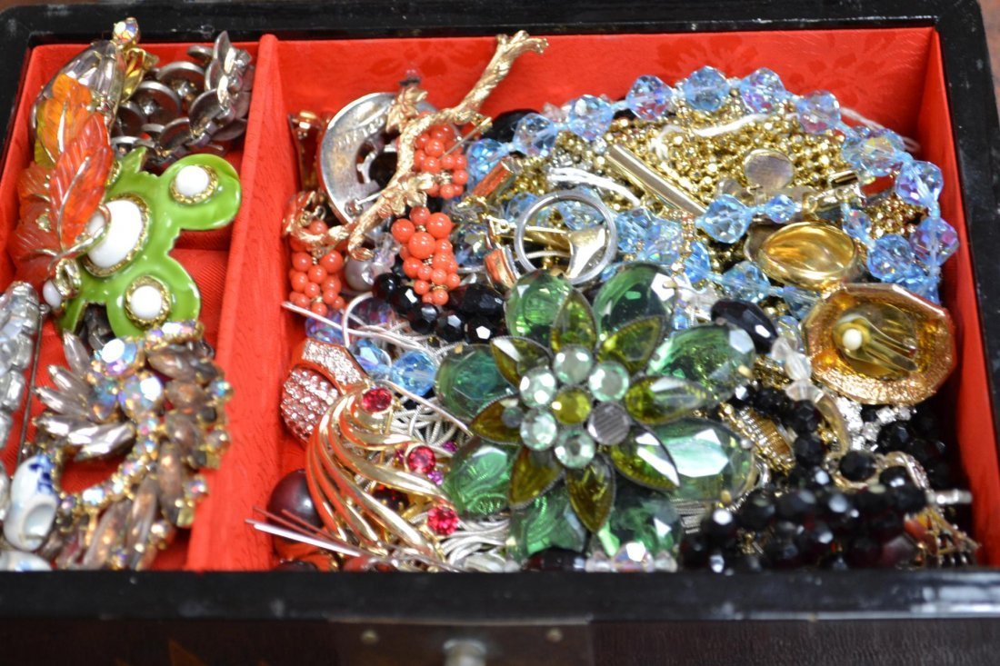 3: Lacquered Box of Costume Jewelry