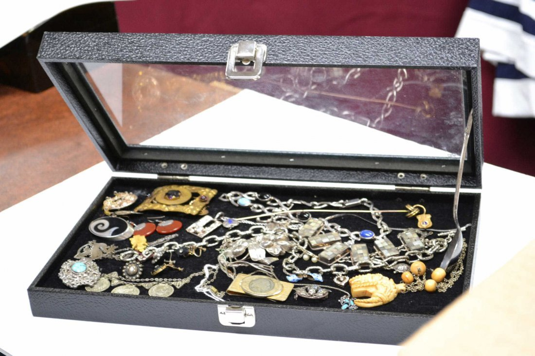 4: Lot of Costume Jewelry Some Sterling