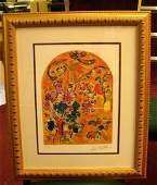 275: Framed Marc Chagall Stained Glass Windows #36/125