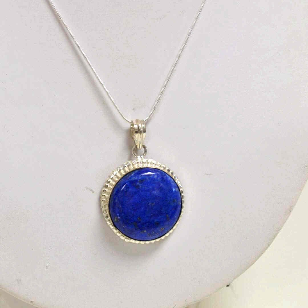 9: Sterling Lapis Necklace