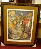 181 Framed Marc Chagall Lithograph Titled Bella
