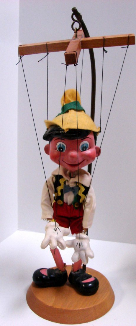 191: Vintage Pelham Puppets: Pinocchio & Jiminy Cricket - 3