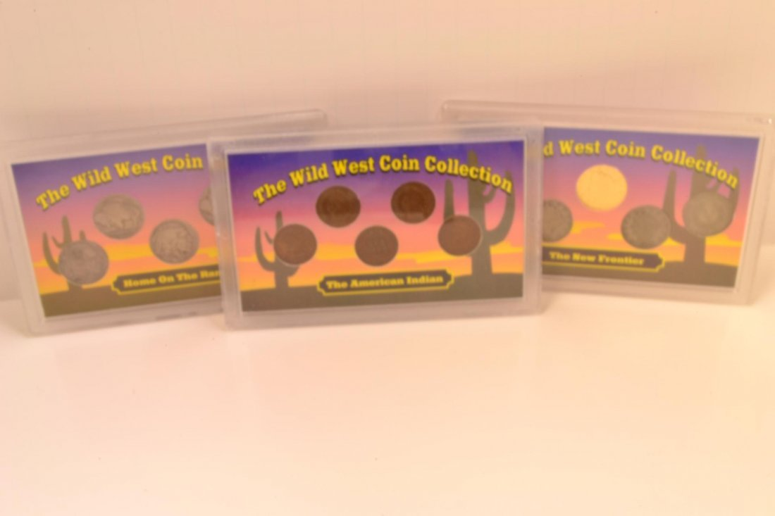15X: (3) Wild West Coin Collection Sets