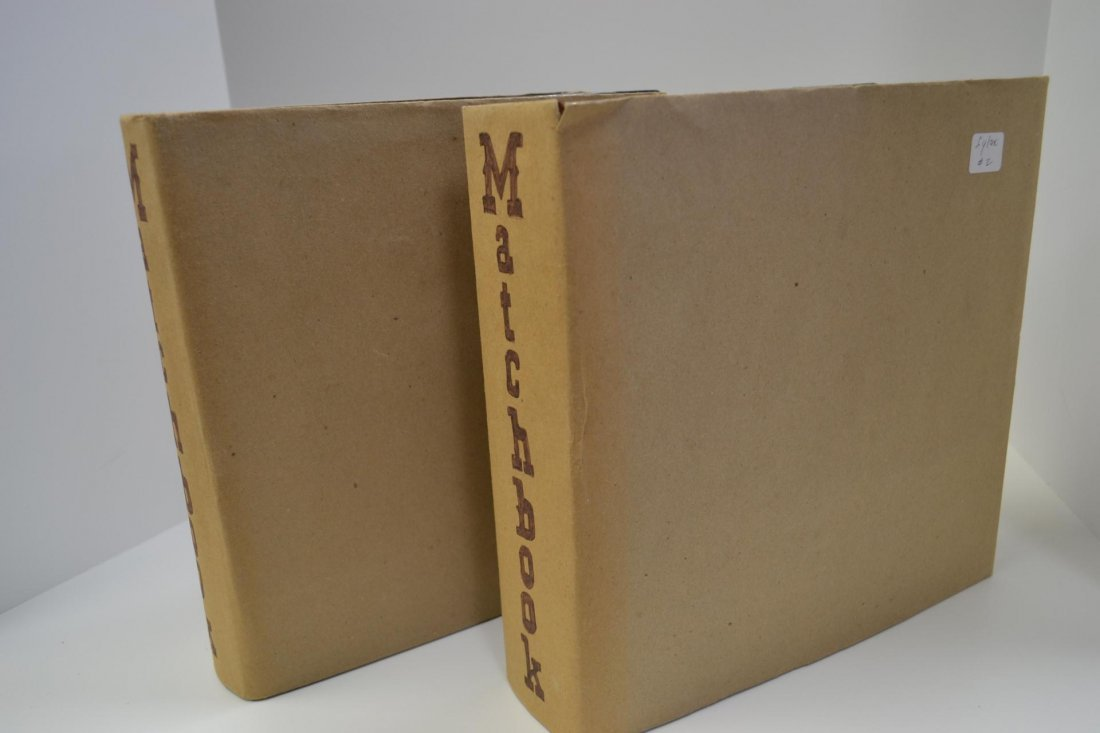 15X: (2)Albums of Mounted Matchbook Covers