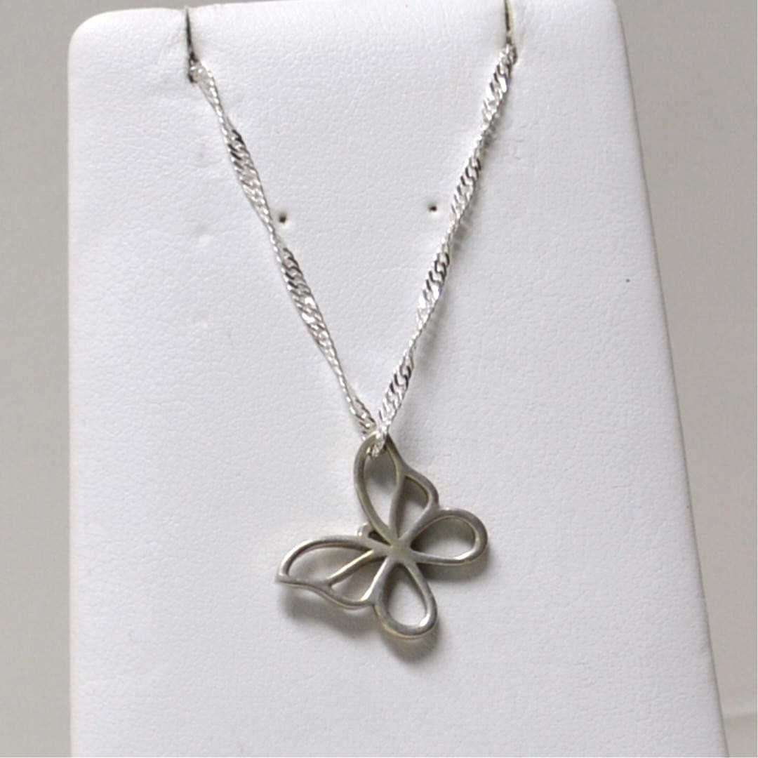 16A: Sterling Butterfly Necklace by Tiffany & Co