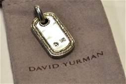 47A Sterling Mother of Pearl Pendant David Yurman
