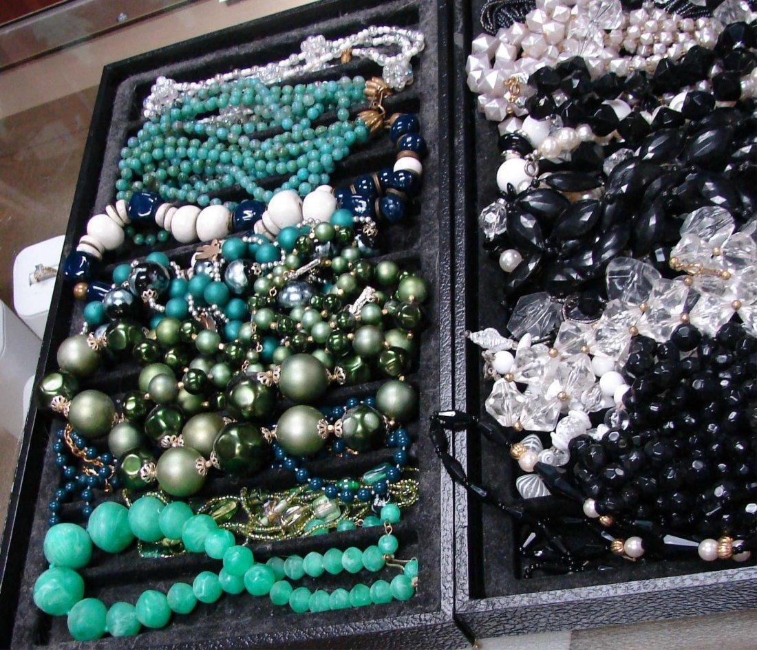 3: Lot Vintage Costume Jewelry Necklaces