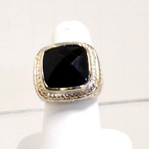 6: Sterling & Onyx Ring