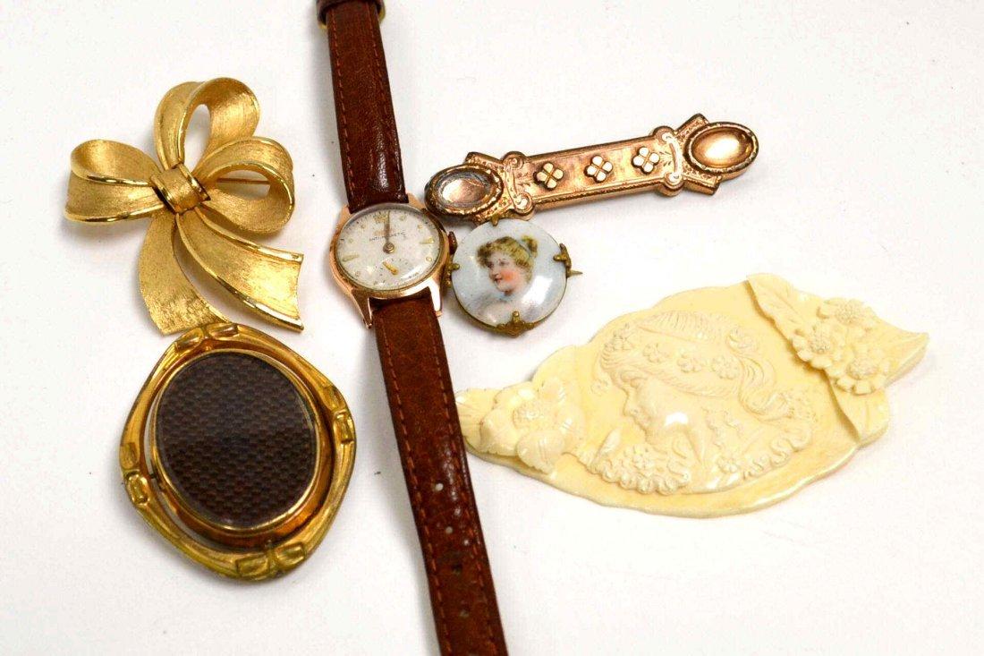 7: Lot of Vintage Jewelry, Doxa watch