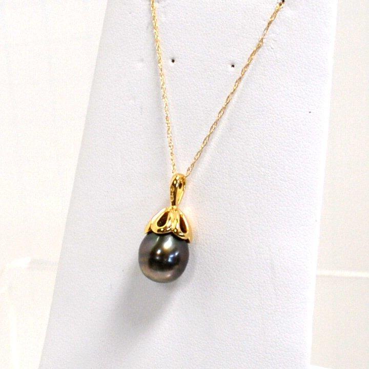 19: 14kyg Black Pearl Pendant