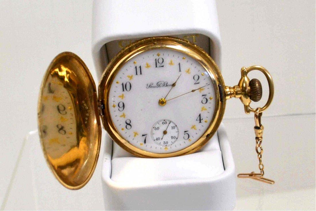 48: 14kyg South Bend Pocket Watch