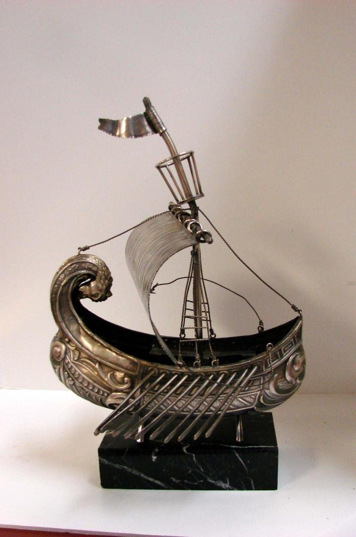 Heavy Metal Viking Ship Sculpture & Wall Hanging