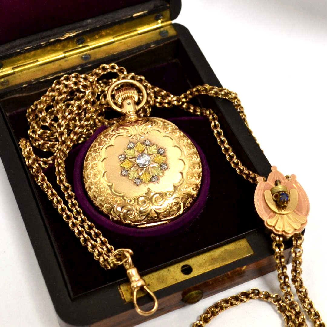 14k Elgin Pocket Watch with FOB
