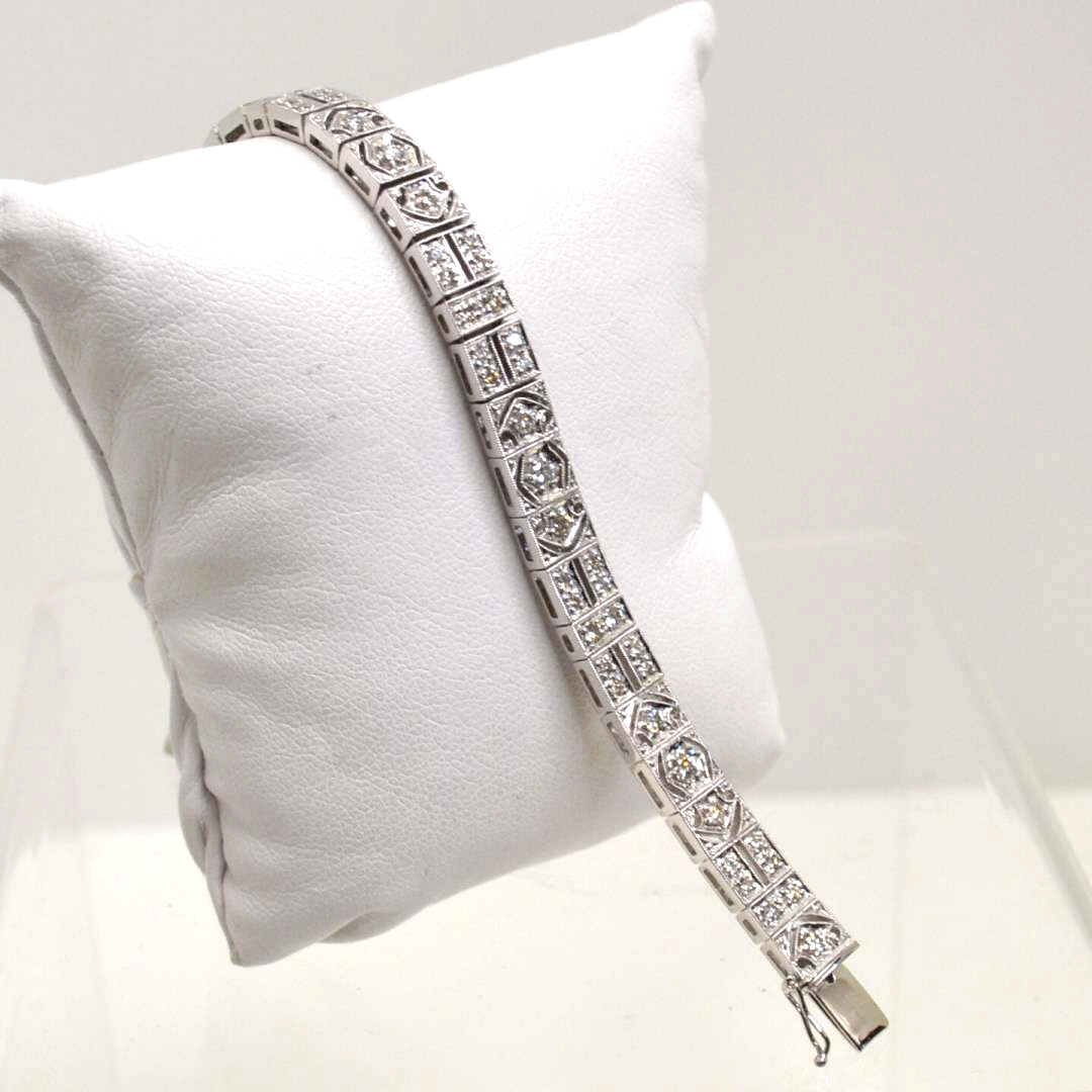 Platinum Diamond Bracelet 3ctw