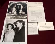 Jacqueline Kennedy Ltr on Mourning Stationery
