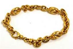 18kyg Fancy Link Bracelet