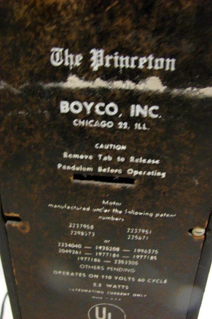 "Vintage Clock ""The Princeton"" by Boyco Inc. - 3"