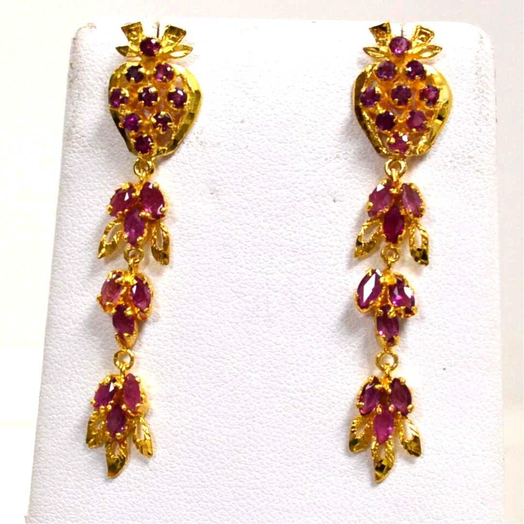 14kyg Ruby Drop Earrings
