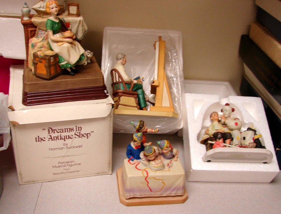 4 Norman Rockwell Figurines