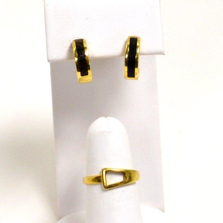 18K Black Coral Earrings Bernard Passman
