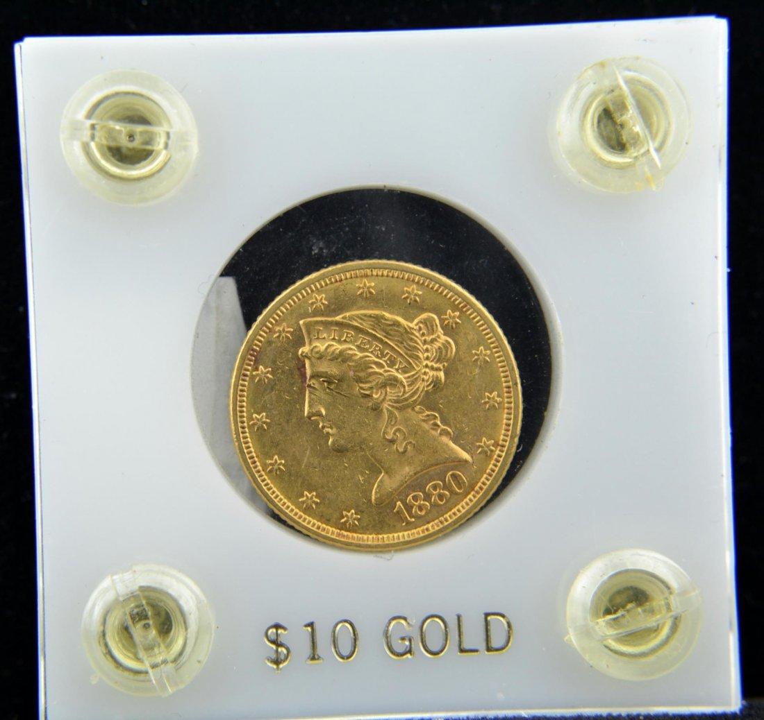 1880 $5 Liberty Head Gold Half Eagle AU - 2