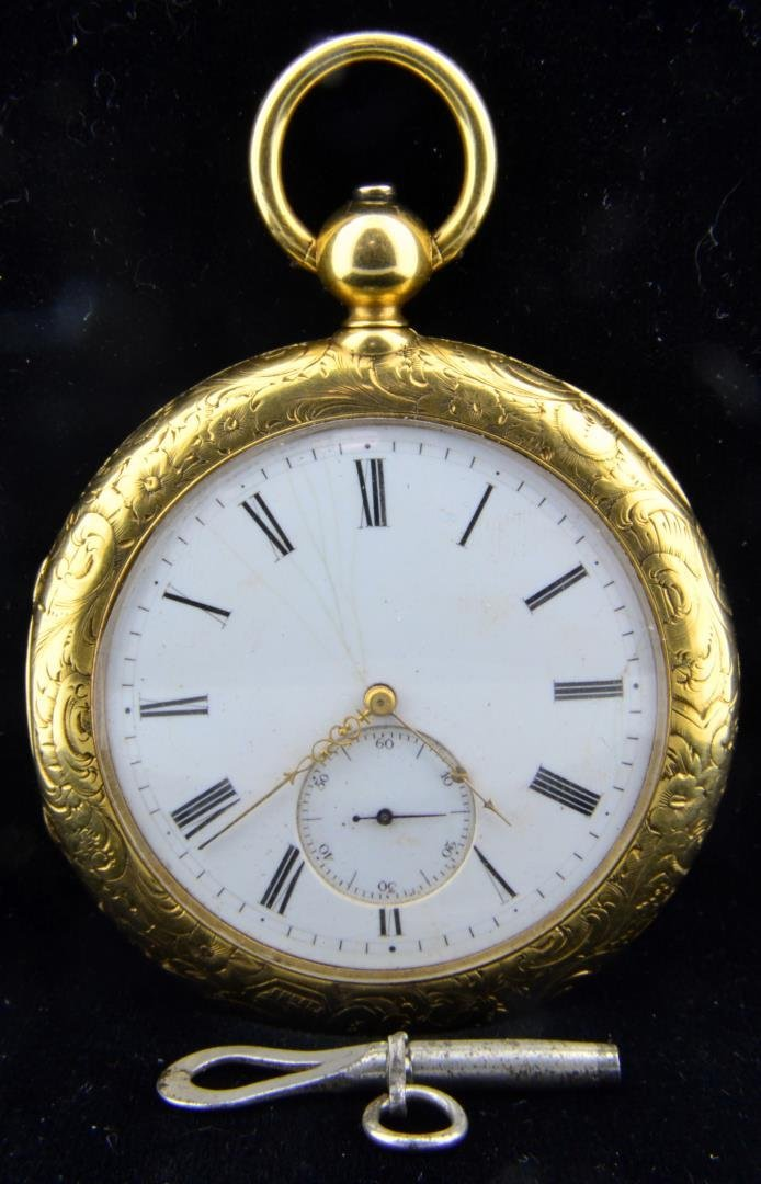 Vintage 18k J.C & Co Pocket Watch