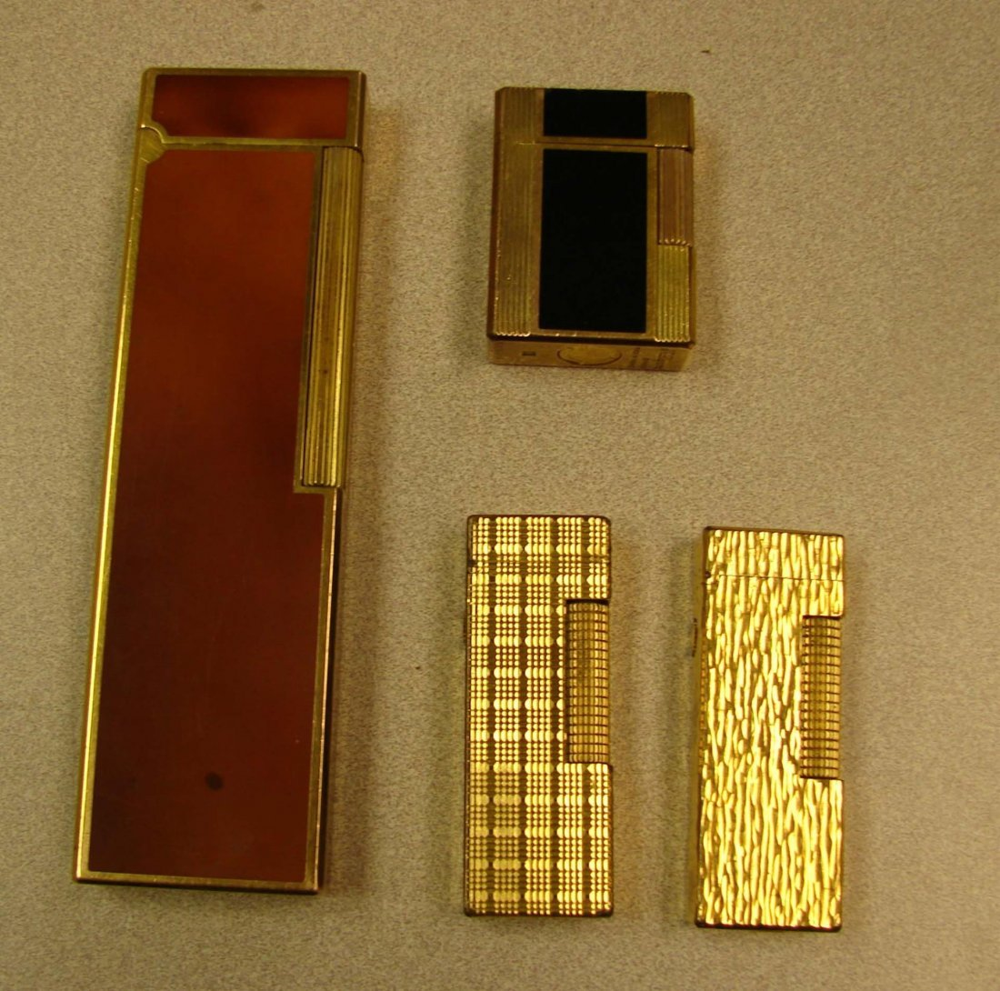 2 S. J. Dupont Lighters & 2 Dunhill Lighters