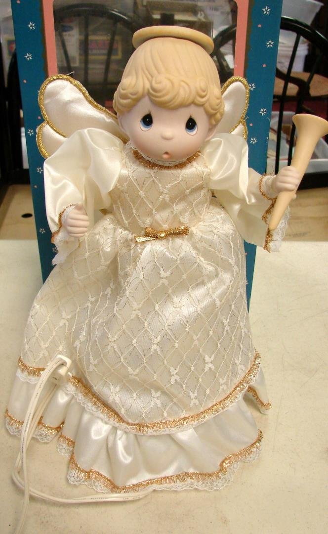 Precious Moments Tree Topper Angel, signed - 2
