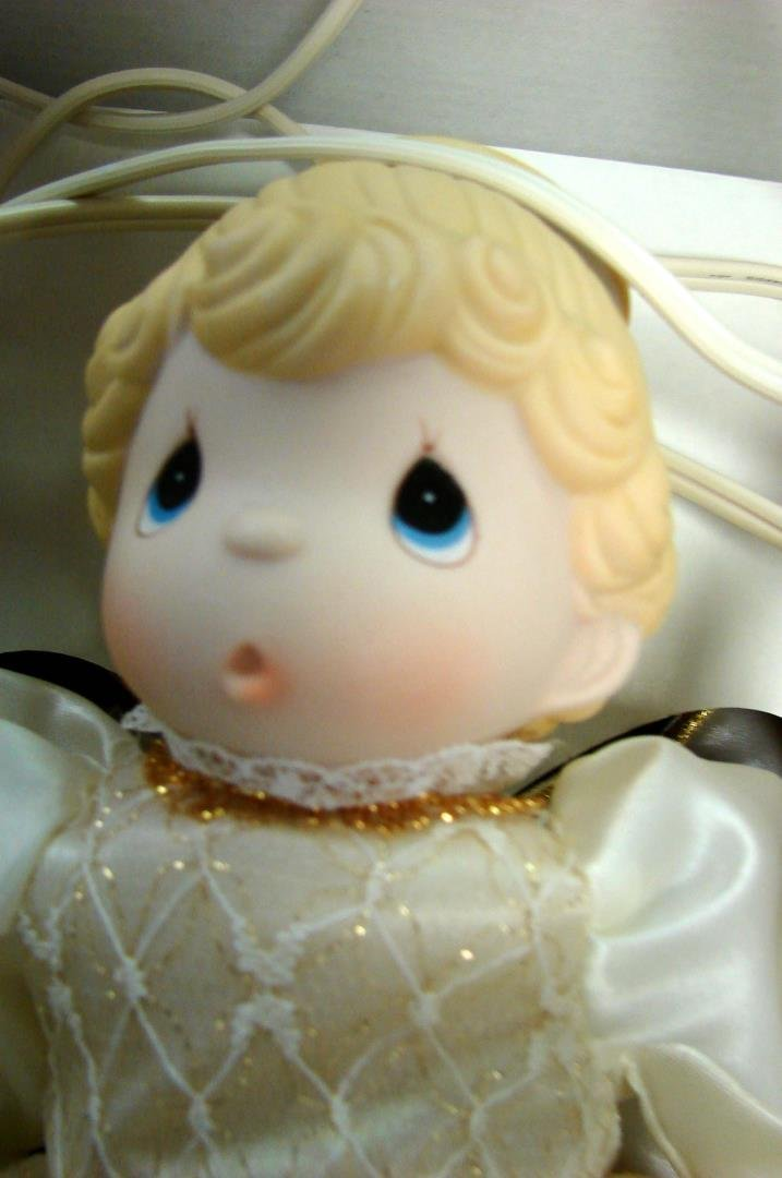 Precious Moments Tree Topper Angel, signed - 3