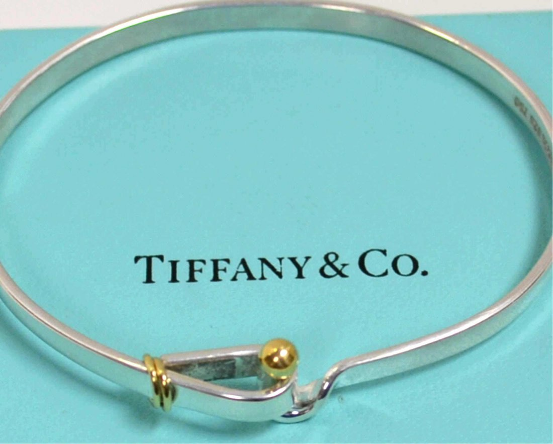 Sterling & 18k Bangle Tiffany & Co