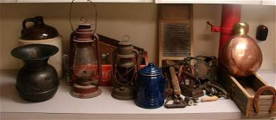Antique Tools, Spittoon, 5 gallon Pottery Jug++