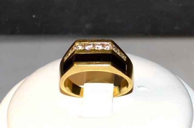 18kyg Black Coral & Diamond Ring Bernard Passman